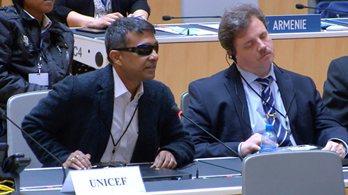 Gopal Mitra, Programme Specialist – Children with Disabilities, Disability Section, UNICEF speaking at the Marrakesh Assembly