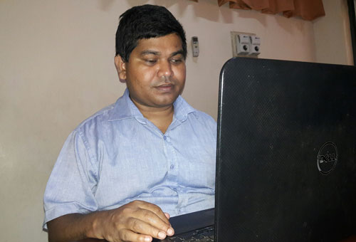 Picture of Ashoka Bandula, chairman of the DAISY Lanka Foundation