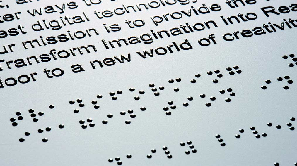 Illustrative image of braille text